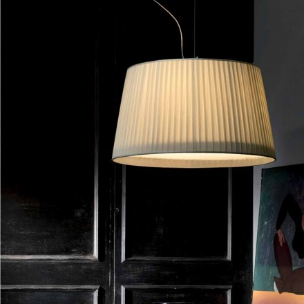Lámpara de techo moderna de seda de color marfil Bamboo