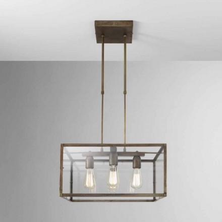 Lámpara de suspensión cuadrada de hierro London Il Fanale