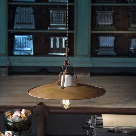 Lámpara colgante hecho a mano estilo industrial Ferroluce