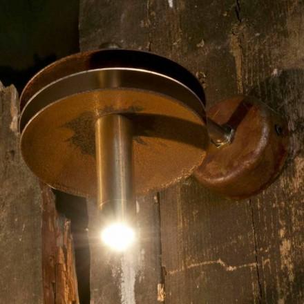 Lámpara artesanal en hierro corten y acabado de latón Made in Italy - Solano