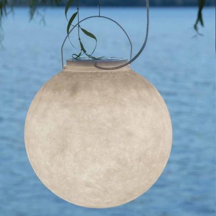 Lámpara de suspensión exterior In-es.artdesign Luna Out en nebulita