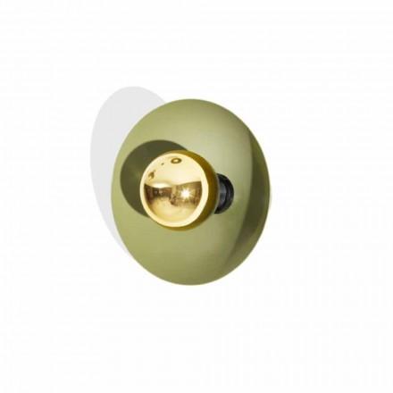 Lámpara de pared de diseño moderno en metal con decoración dorada Made in Italy - Valta