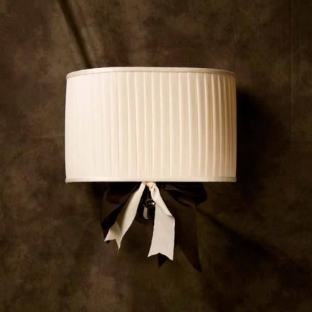 Lámpara de pared vintage de seda color marfil modelo Chanel