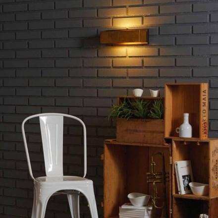 Lámpara de pared de diseño en latón y acero 35xH 10xsp.9 cm Harya