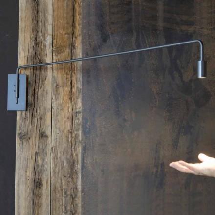 Lámpara de pared hecha a mano con estructura de hierro Made in Italy - Solana