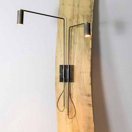 Lámpara de pared en hierro y aluminio artesanal Made in Italy - Gemina