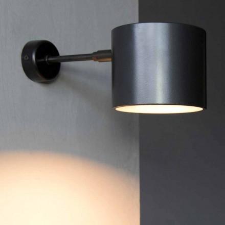 Lámpara de pared en hierro y aluminio artesanal Made in Italy - Trema