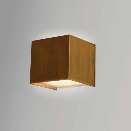 Lámpara de pared de latón de diseño moderno 9x H 9x, 9 cm, Venus