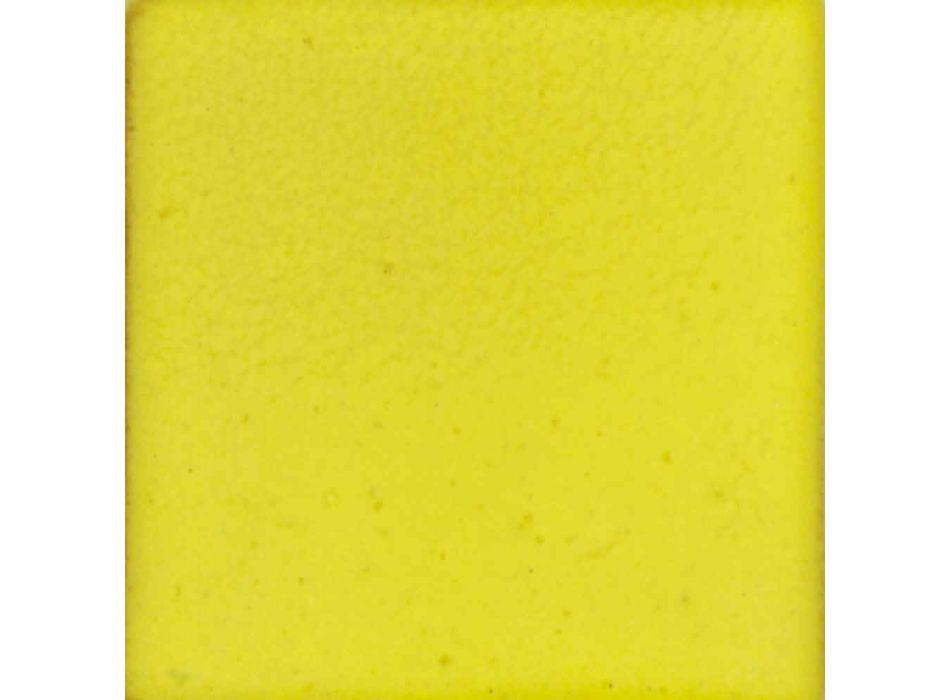 Aplique de pared moderno en mayólica toscana y latón, Rossi Toscot