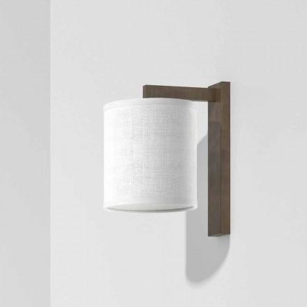 Lámpara de pared moderna de metal con pantalla de lino Made in Italy - Bali
