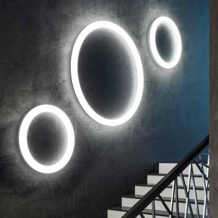 Lámpara de pared LED redonda moderna Made in Italy en polietileno - Slide Giotto