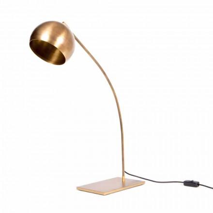 Lámpara de mesa hecha a mano en hierro y latón bruñido Made in Italy - Brina