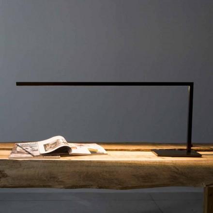 Lámpara de mesa de diseño en hierro pintado negro mate Made in Italy - Linea