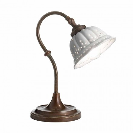 Lámpara sobremesa de cerámica estilo Liberty Anita Il Fanale