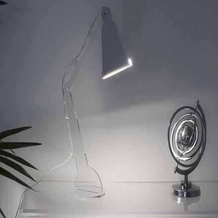 Lámpara de mesa / lectura de estilo tecno con luz LED, Flero