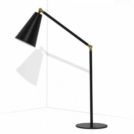 Lámpara de mesa moderna con estructura metálica Made in Italy - Zaira