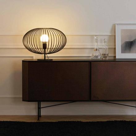 Lámpara de mesa moderna en acero pintado, 48xH35 cm, Gabriella