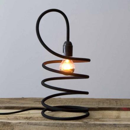 Lámpara de mesa moderna en cobre revestido de algodón Made in Italy - Fusilla