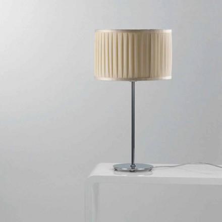 Lámpara de mesa moderna de seda color marfil Bamboo