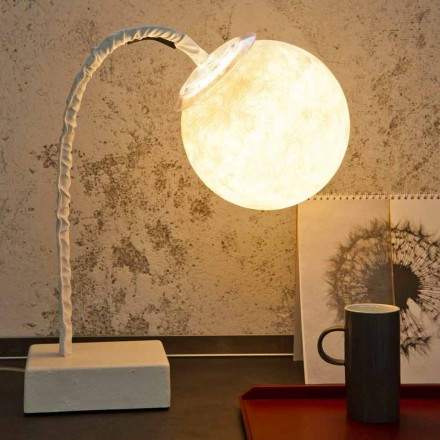 Lámpara de mesa vástago flexible moderno In-es.artdesign MicroT Luna