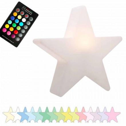 Lámpara de sobremesa solar o LED, diseño estrella en polietileno - Ringostar