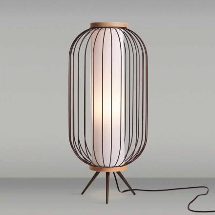 Lámpara de pie de diseño moderno en acero diámetro 37xH80 cm Fanny
