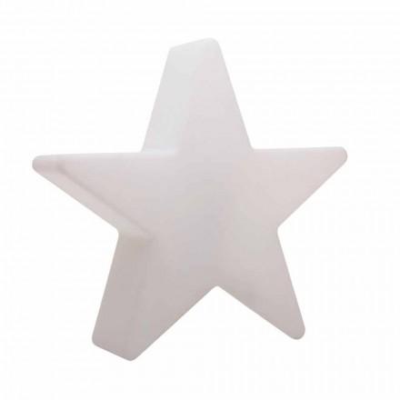 Lámpara de pie en forma de estrella blanca o roja, diseño moderno - Ringostar