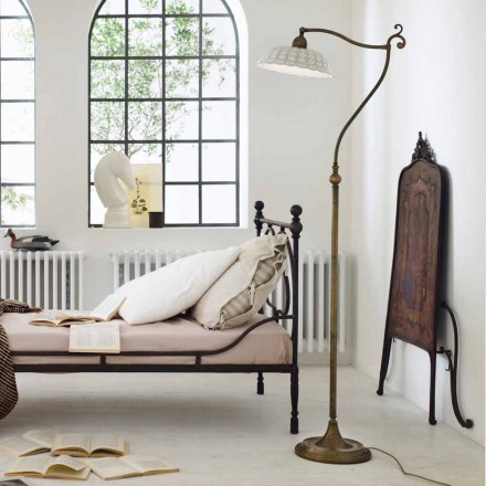 Lámpara de suelo de cerámica estilo liberty Anita Il Fanale