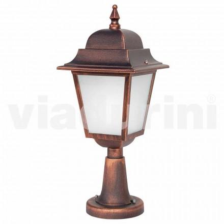 Lámpara de pie para exterior fabricada en aluminio, fabricada en Italia, Aquilina.