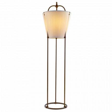 Lámpara de suelo de latón envejecido con 1 luz Tenarunga