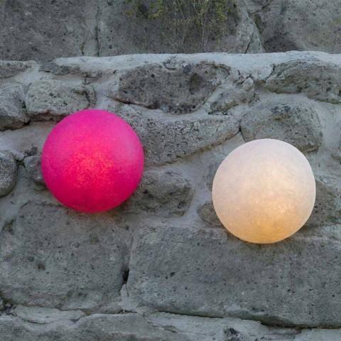 Lámpara de pared de diseño In-es.artdesign Botón en nebulita coloreada