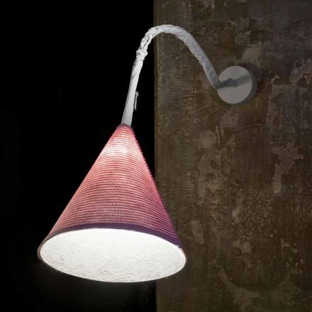 Lámpara de pared de diseño In-es.artdesign Jazz A Stripe colored wool