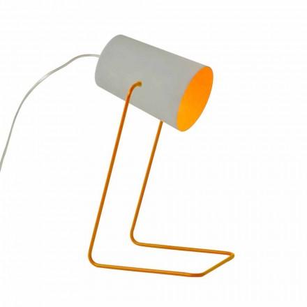 Lámpara de diseño de mesa In-es.artdesign Pintura T efecto concreto.