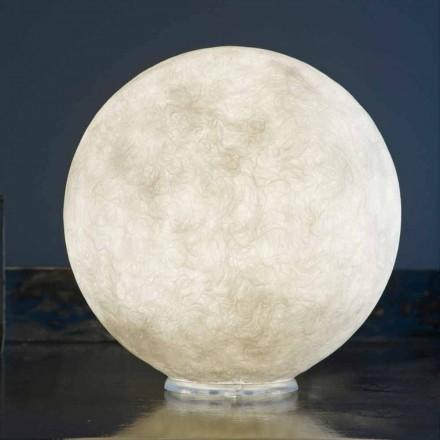 Lámpara de diseño de mesa In-es.artdesign T.moon en nebulita blanca