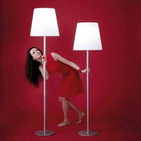 Lámpara de pie de diseño Ali Baba Steel Slide metal fabricado en Italia