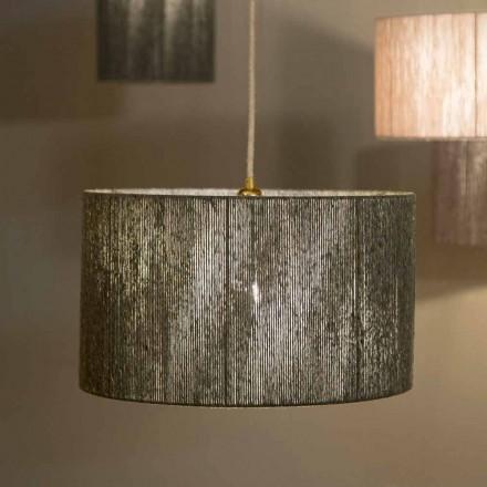 Lámpara de diseño suspendido con d.45 en lana producida en Italia Evita.