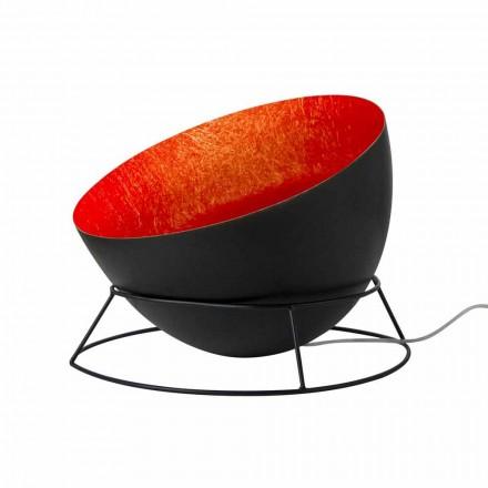 Lámpara de acero y nebulita del suelo In-es.artdesign H2o F coloreada