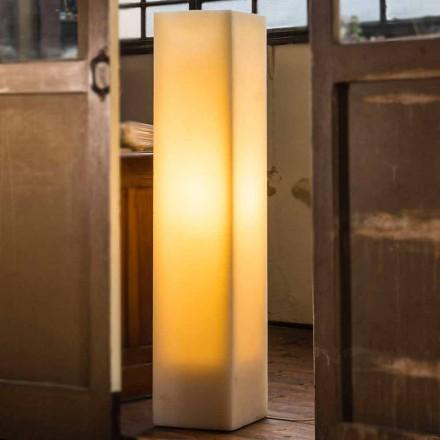 Lámpara de cera con alto efecto rayado y diseño Made in Italy - Dalila