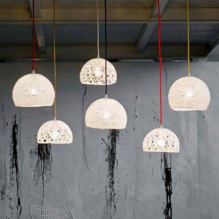 Lámpara en algodón y viscosa suspendida In-es.artdesign Textura moderna