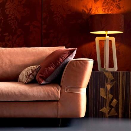 Lámpara de mesa en madera maciza, Grilli Barnaby hecho en Italia.