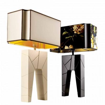 Grilli Zarafa hizo Italia mesita de noche de madera / lámpara de mesa