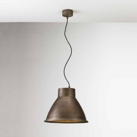 Lámpara suspensión industrial hierro Loft Media Il Fanale
