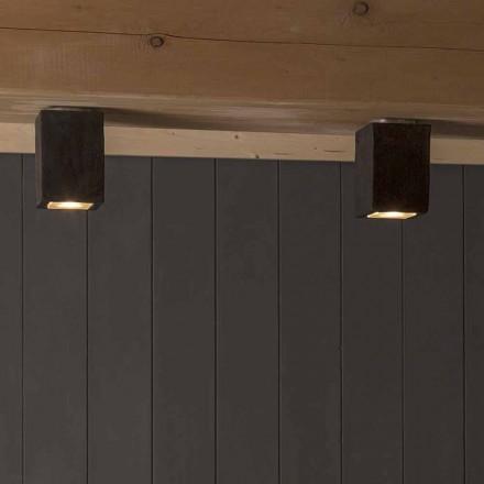 Plafón de exterior LED en arcilla, Smith - Toscot