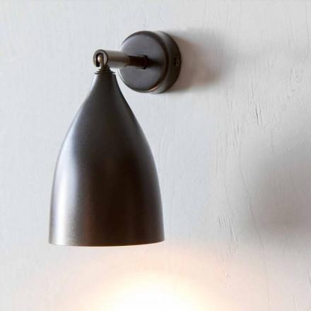 Lámpara de pared artesanal en hierro y aluminio Made in Italy - Conica