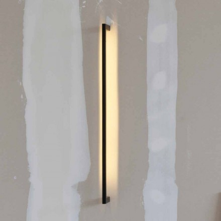 Lámpara de pared moderna hecha a mano en hierro negro Made in Italy - Pamplona