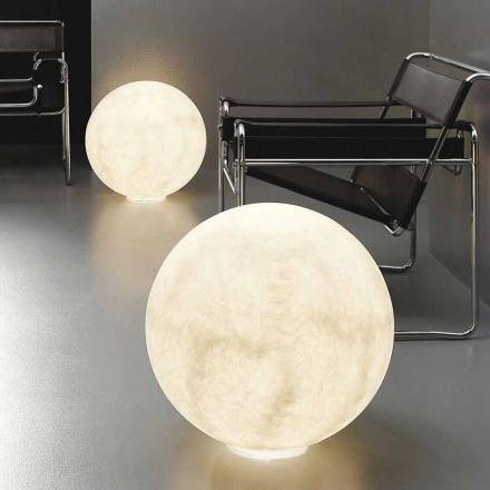 Lámpara de mesa esférica moderna In-es.artdesign Floor Moon nebulite