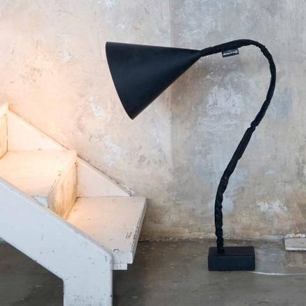 Lámpara de pie moderna In-es.artdesign Flower Resin pizarra