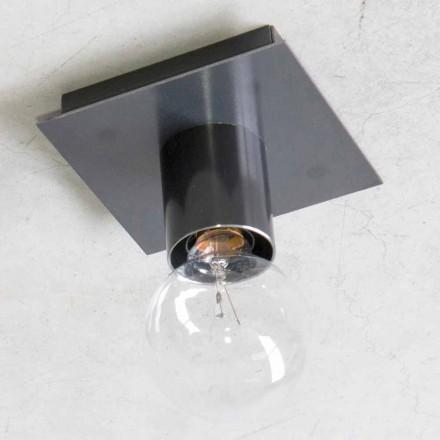 Lámpara de pared hecha a mano en hierro negro o corten Made in Italy - Alabama