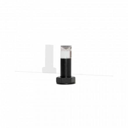 Lámpara de mesa moderna en metal negro y plexiglás Made in Italy - Dalbo