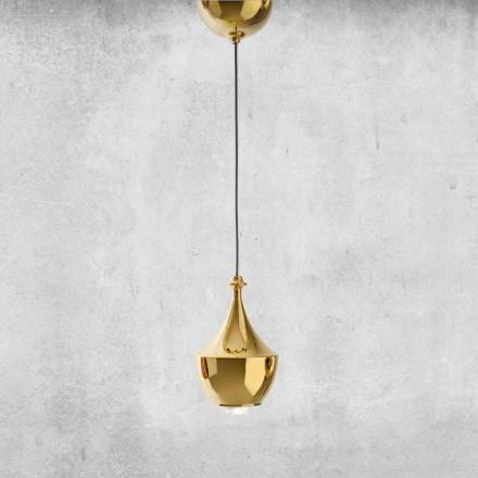 Lámpara LED suspendida de cerámica Made in Italy - Lustrini L3 Aldo Bernardi